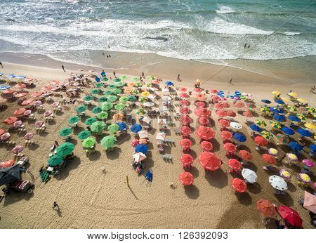 RECIFE, BRAZIL - CIRCA MARCH 2016: Boa Viagem Beach, Recife, Brazil