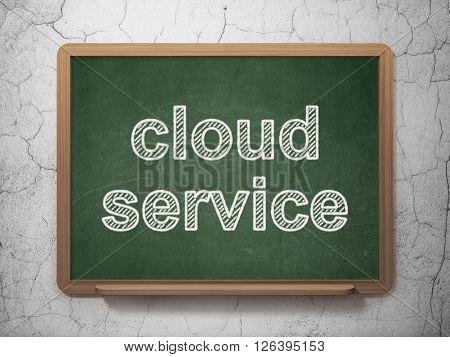 Cloud technology concept: Cloud Service on chalkboard background