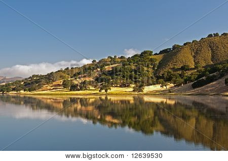 Uvas Reservoir Reflection