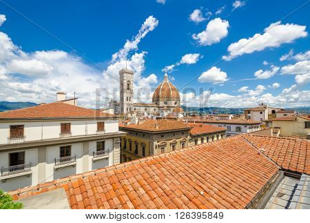 Palazzo Vecchio and Cathedral of Santa Maria del Fiore (Duomo), Florence, Italy