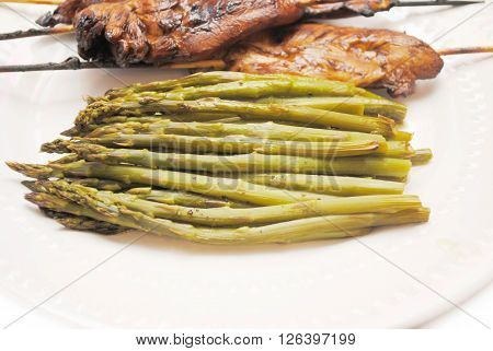 Asparagus Served as a Summer Side Dish