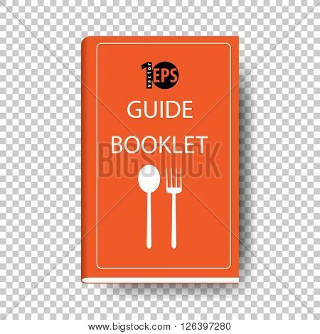 cartoon clip-art concept food guide booklet. eps10 vector