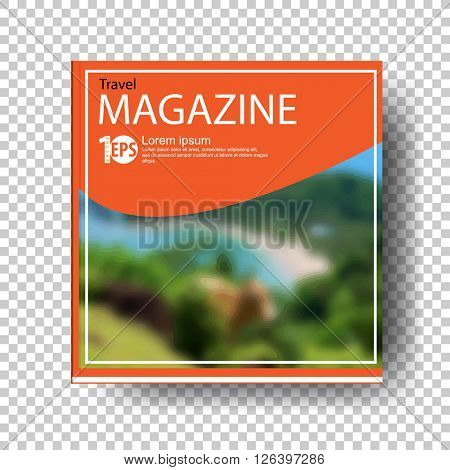cartoon clip-art concept travel magazine. eps10 vector