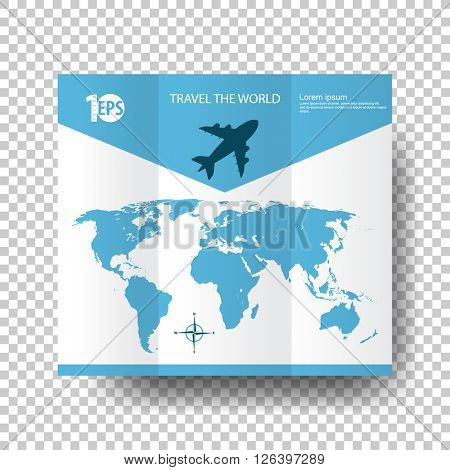 cartoon clip-art concept travel flyer. eps10 vector