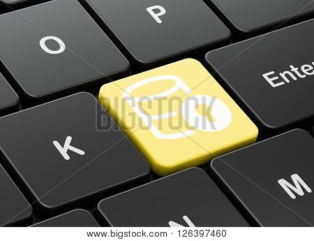 Database concept: Database With Lock on computer keyboard background