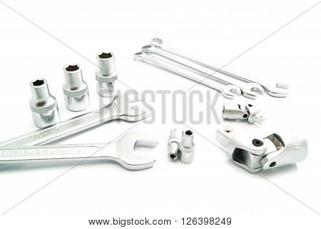 Various Wrenches And Metal Heads