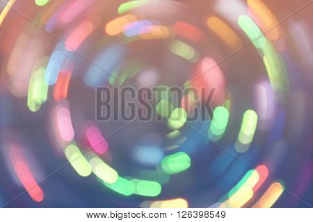 Bokeh Lights Background Retro Colorful Whirl 2