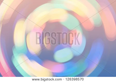 Bokeh Lights Background Retro Colorful Whirl 5