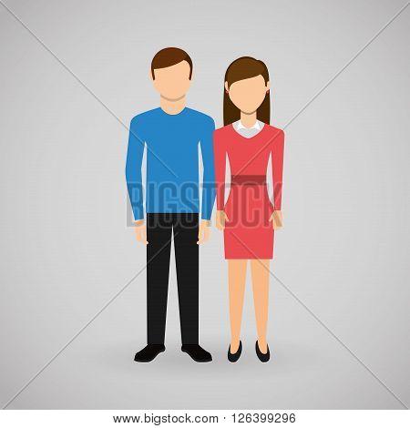 couple relationships design, vector illustration eps10 graphic