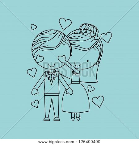 couple relationships design, vector illustration eps10 graphic