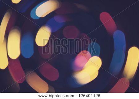 Bokeh Lights Whirl Retro Background Purple Night 3