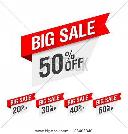 Big Sale Discount. Vector illustration.