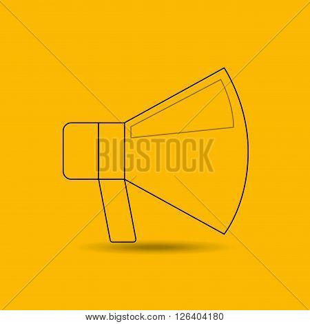 megaphone isolated design, vector illustration eps10 graphic
