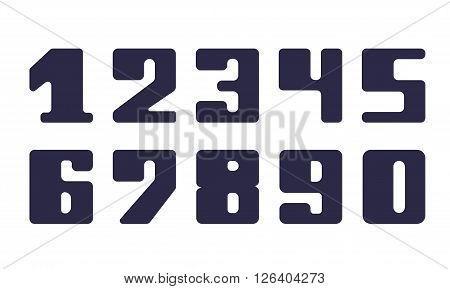 Set fatty numeral for decoration and design
