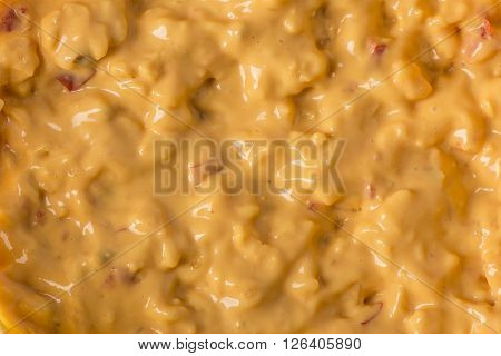 Pimento Cheese Spread or a melted cheese texture