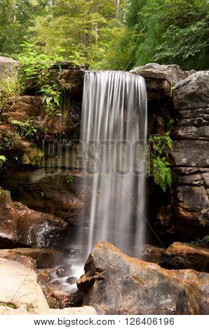 Small waterfall found in the forests of Arkansas