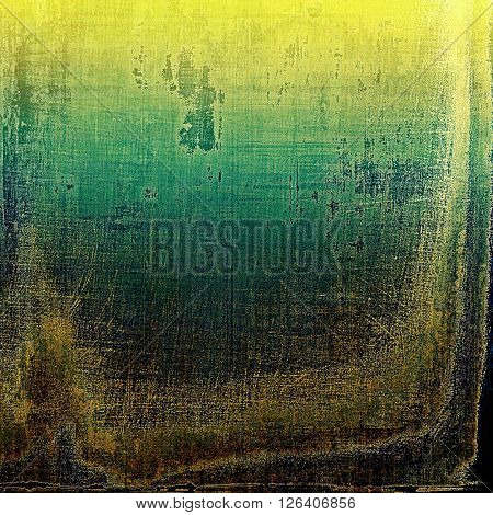 Tinted vintage texture, aged decorative grunge background with traditional antique elements and different color patterns: yellow (beige); brown; gray; green; blue