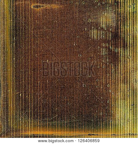 Vintage elegant background, creased grunge backdrop with aged texture and different color patterns: yellow (beige); brown; gray