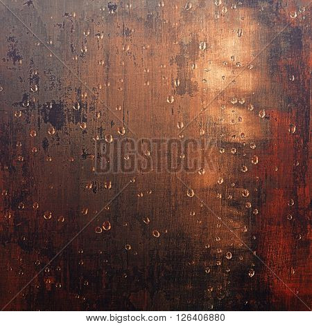 Old school elements on textured grunge background. With different color patterns: yellow (beige); brown; gray; red (orange); black