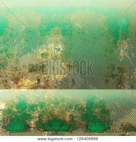 Vintage and retro design elements on faded grunge background. With different color patterns: yellow (beige); brown; gray; green; cyan