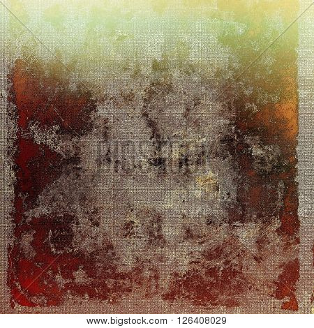 Veined grunge background or scratched texture with vintage feeling and different color patterns: yellow (beige); brown; gray; red (orange); green