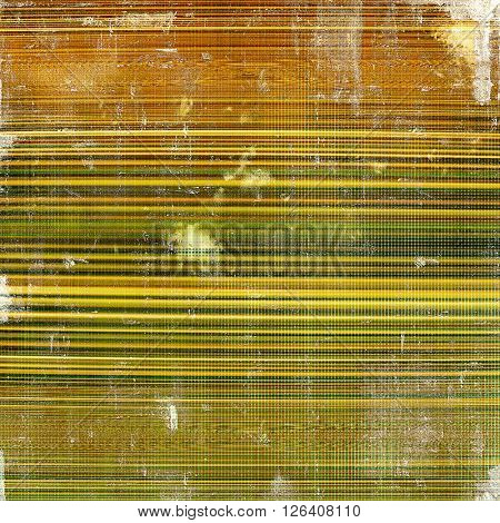 Vintage old-style texture, worn and rough grunge background with different color patterns: yellow (beige); brown; gray; red (orange); green