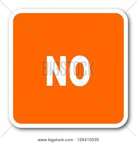 no orange flat design modern web icon
