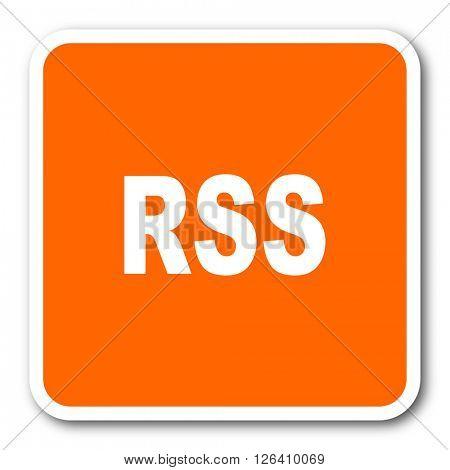 rss orange flat design modern web icon