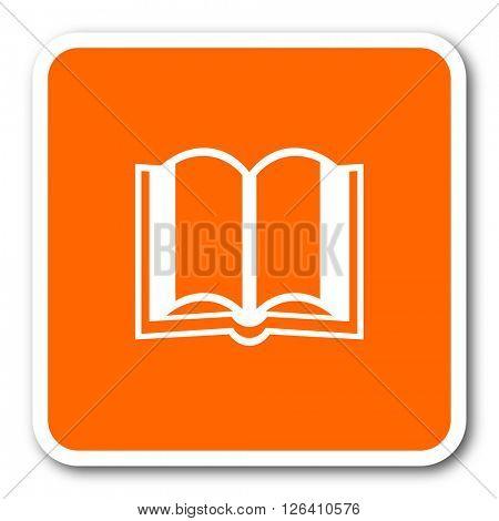 book orange flat design modern web icon
