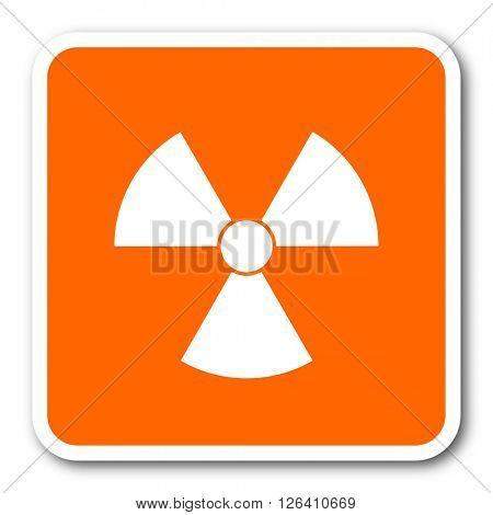 radiation orange flat design modern web icon