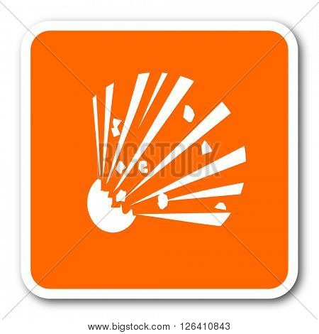 bomb orange flat design modern web icon