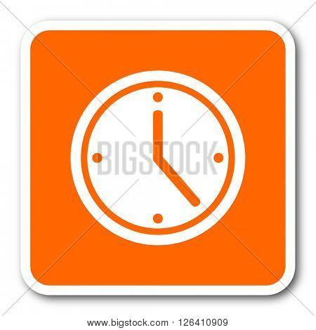 time orange flat design modern web icon