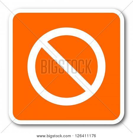 access denied orange flat design modern web icon