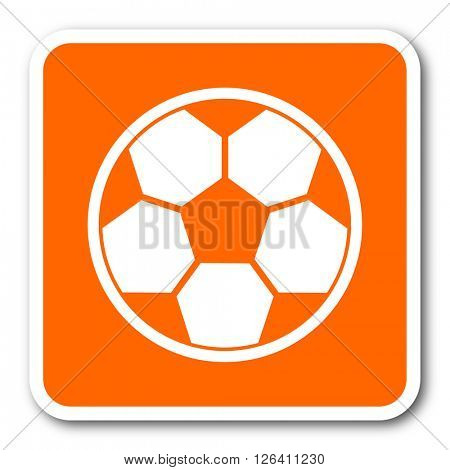 soccer orange flat design modern web icon