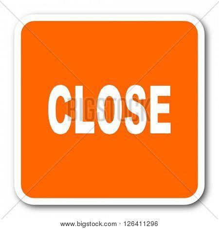close orange flat design modern web icon