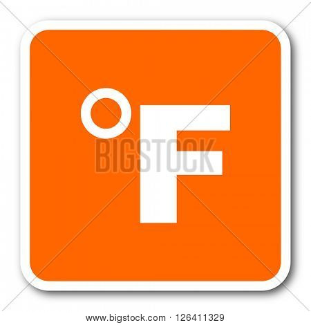 fahrenheit orange flat design modern web icon