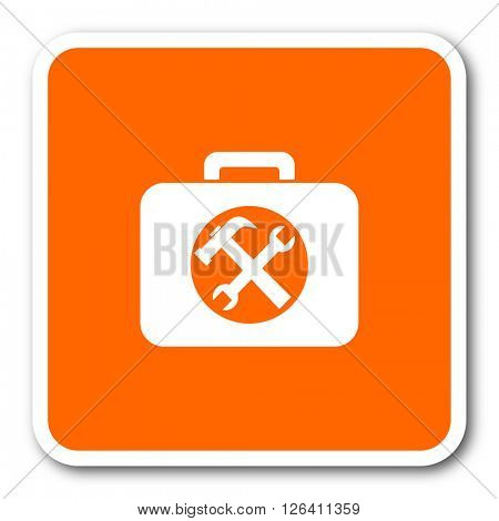 toolkit orange flat design modern web icon