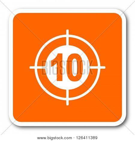 target orange flat design modern web icon