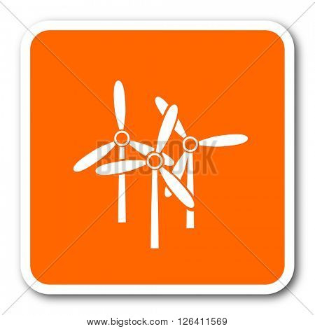 windmill orange flat design modern web icon