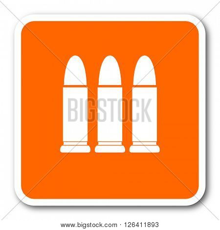 ammunition orange flat design modern web icon