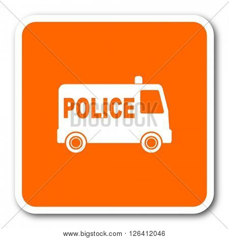 police orange flat design modern web icon