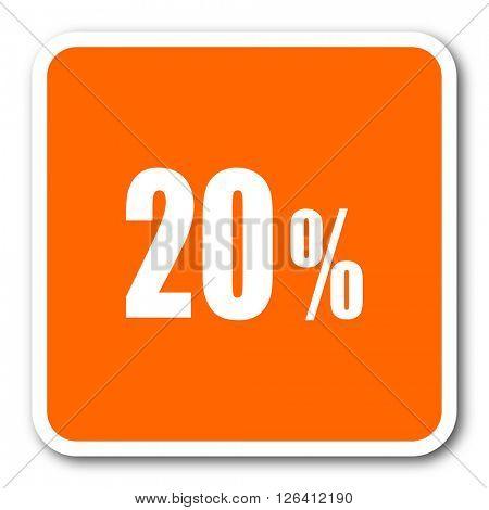 20 percent orange flat design modern web icon