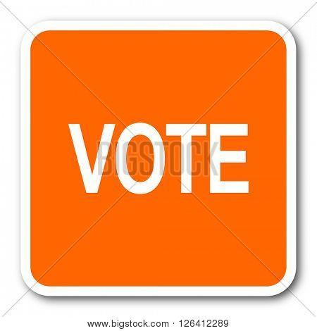 vote orange flat design modern web icon