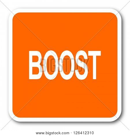 boost orange flat design modern web icon