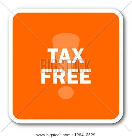 tax free orange flat design modern web icon