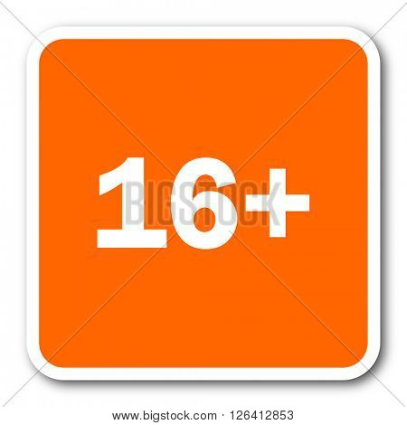 adults orange flat design modern web icon