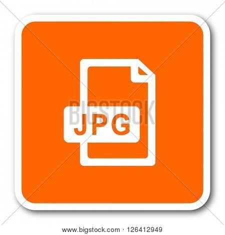 jpg file orange flat design modern web icon