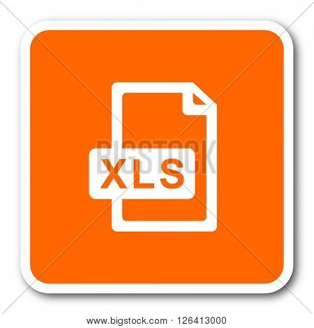 xls file orange flat design modern web icon