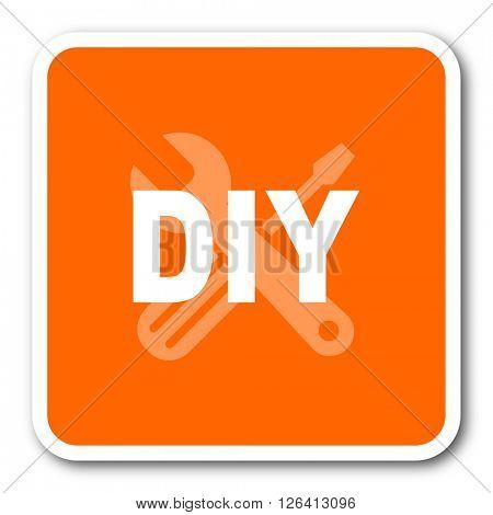 diy orange flat design modern web icon