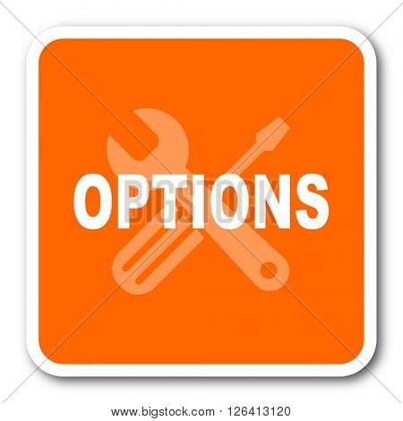 options orange flat design modern web icon